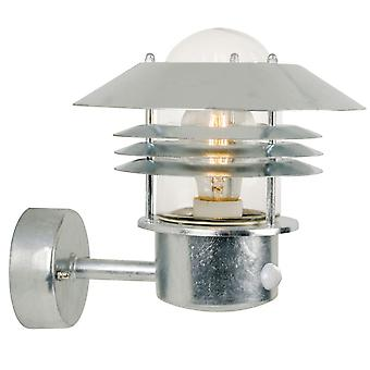 Vejers Up Sensor  -  Galvanised Up Facing Outdoor Wall Light With Sensor - Nordlux 25101031