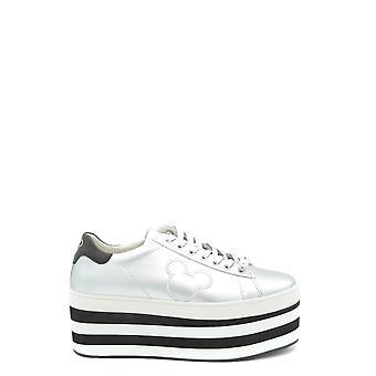 Moa Ezbc118011 Women's Silver Leather Sneakers