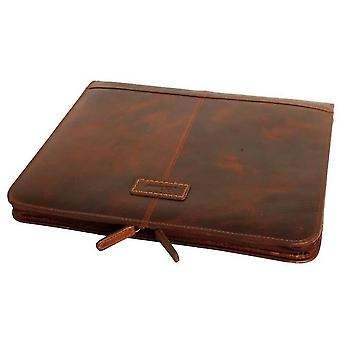 Ashwood Leather Highbury Waxed Vintage Noah Document Holder - Vintage Tan