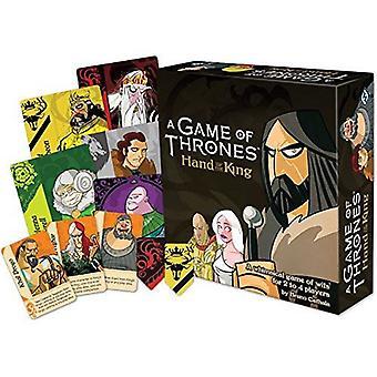 Un jeu de trône à la main du jeu de cartes King