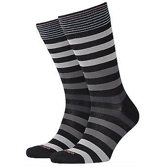 Burlington Blackpool SOCKS-svart/grå