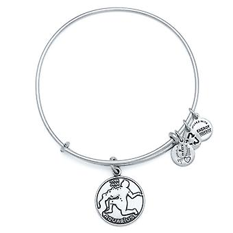Alex and Ani Aquarius Silver Bangle A13EB01AQRS