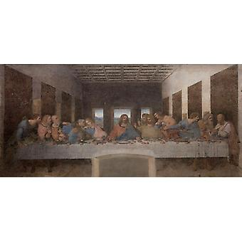 The last dinner, LEONARDO da Vinci, 80x37cm