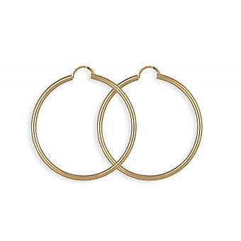 Kreolsk forgyldt guld 40mm rund Wire tykkelse 2.50 mm