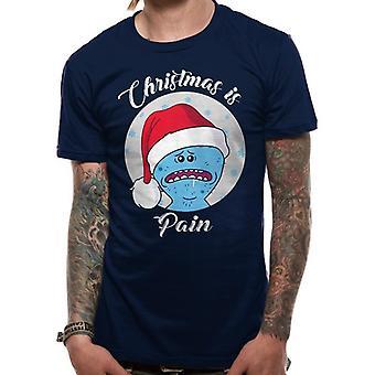 Rick y Morty Unisex adultos Navidad es el dolor diseño camiseta