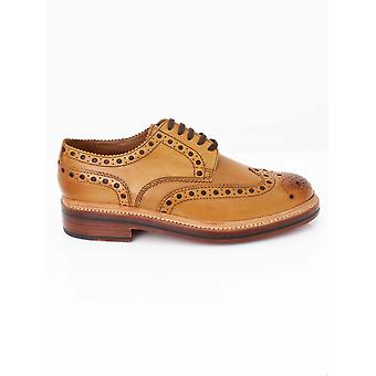 Grenson Archie Big Punch Brogue - Tan