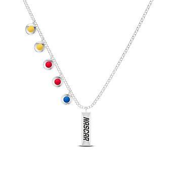 Collar colgante Nascar en diseño de plata de ley por BIXLER