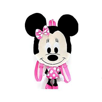 Plush Backpack - Disney - Minnie Mouse PINK Flat 16