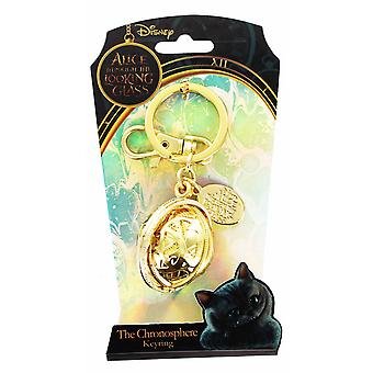 Metal Keychain Disney Alice in Wonderland Movie Pewter Chronosphere