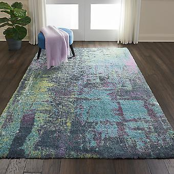 Corsica Shag Rugs Crc02 In Teal By Nourison