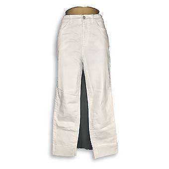 Denim & Co. vrouwen ' s jeans Studio Classic denim geboeid wit A305412