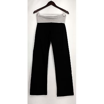 Zenana Outfitters Leggings Stretch Knit Gray/ Black Womens