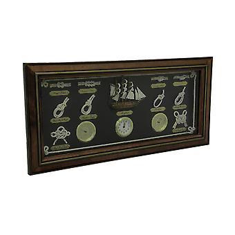 木框航海结板湿度计温度计挂钟