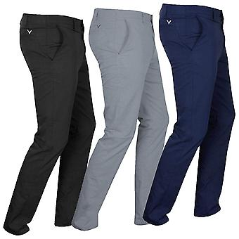 Callaway 2021 Mens Ergo Tailored Stretch Slim Chevron Golf Trousers