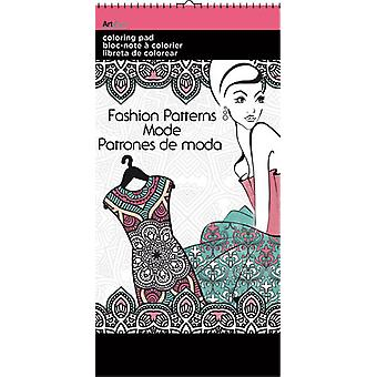 Mini Coloriage Pad Book - Patterns in Fashion 6x12-quot; New Toys az0902