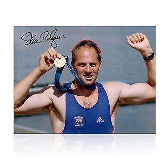 Steve Redgrave ondertekende Olympische roei foto: Sydney Gold Medal