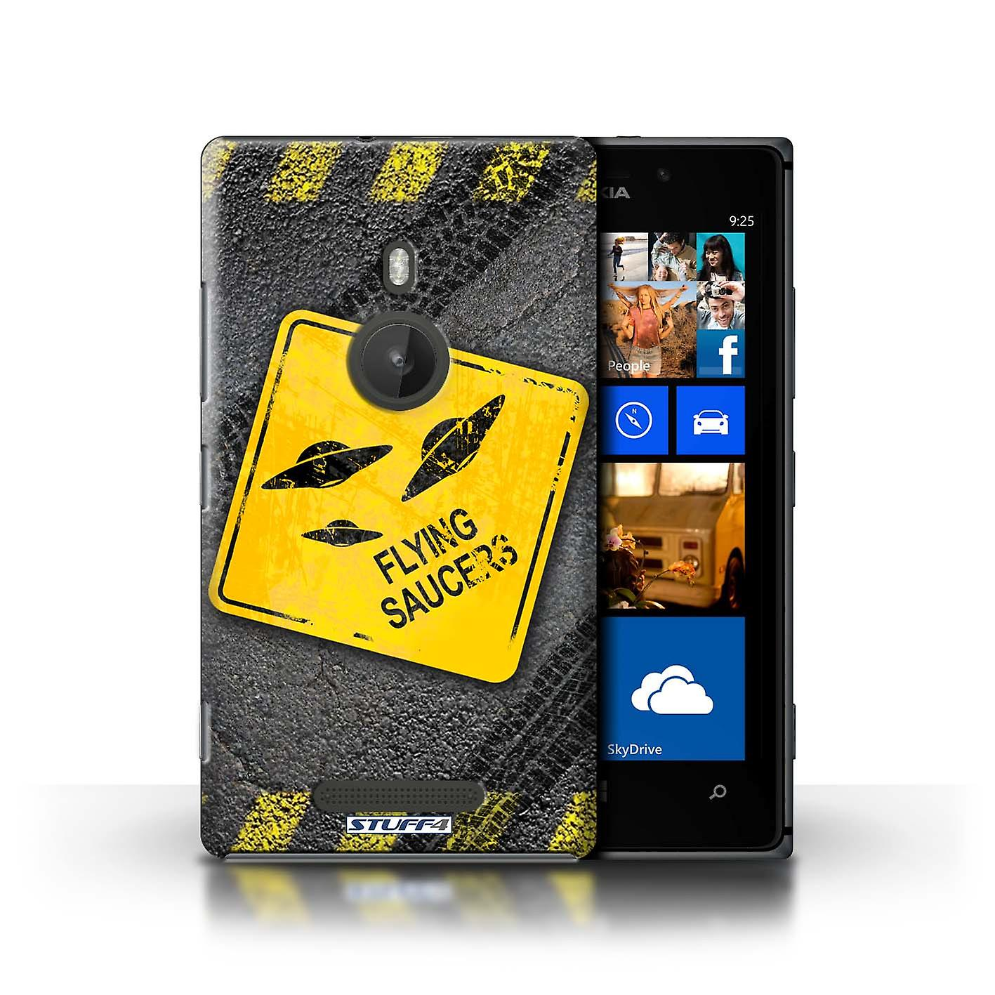 STUFF4 Case/Cover for Nokia Lumia 925/UFO/Flying Saucers/Funny Road Signs