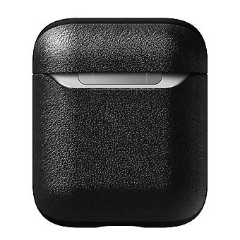 Airpods (1 and 2) Cover Case Genuine leather Wireless Charging- Nomad, Black