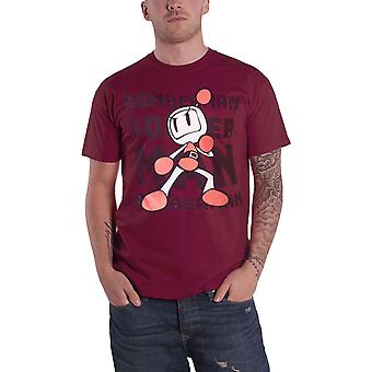 Bomberman T Shirt Tonal Bomb Logo new Official Mens Red