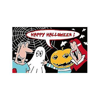 Happy Halloween monstre flagg 5ft x 3ft