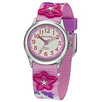 JACQUES FAREL Kids Wristwatch Analog Quartz Girl Textile Ribbon HCC 3134 Unicorn