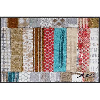 Salonloewe Fußmatte Happy by Anna Flores 50 x 75 cm Fußmatte waschbar