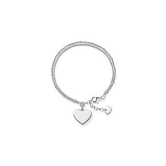 Thomas Sabo Love Bridge Double Chain Heart Bracelet LBA0102-001-12