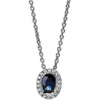الأحجار الكريمة قلادة الماس 0.08 ct. الياقوت 0.56 قيراط.