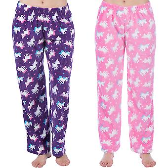 Selena Girl Kids Super Soft Warm Winter Unicorn Nightwear Pyjama Bottoms Pants