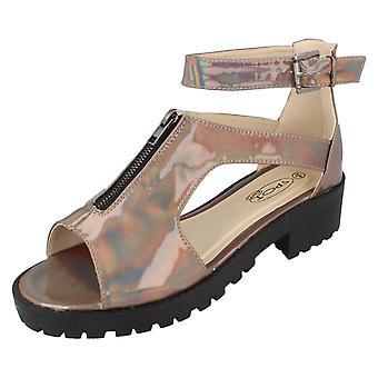 Ladies posto sulla caviglia Casual fibbia sandali F10373