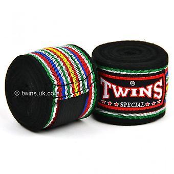 Twins CH-2 Premium Cotton Hand Wraps Black