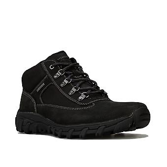 Mens Rockport Cold Spring Chukka Boots In Black- Lace Fastening- Cushioned