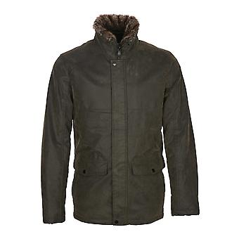 Max faux skinn kappa i khaki