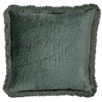 Riva Home Crocodile Velvet Cushion Cover
