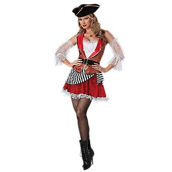 Womens Pretty Pirate Caribbean Books & Film Fancy Dress Costume