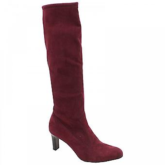 Peter Kaiser Levke Purple Suede Stretch Long Boot