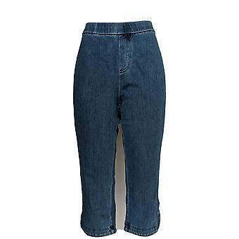 Isaac Mizrahi Live! Damen's Petite Jeans stricken Denim Pull-On Blau A306575
