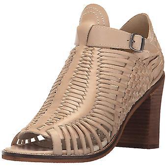 Naughty Monkey Womens Killion Leather Peep Toe Casual Mule Sandals