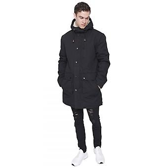 Island Trading Mens Heavy Weight High Quality Cotton Parka Winter Coat Fishtail Long Jacket