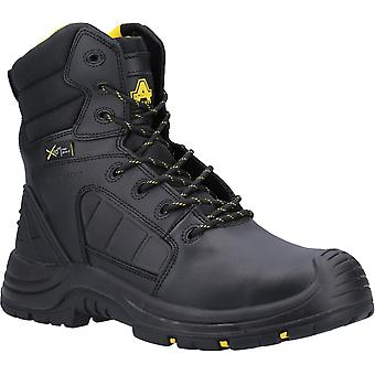 Amblers Safety Mens AS350C Berwyn Hi-Leg Metal Free Metatarsal Safety Boot Preto