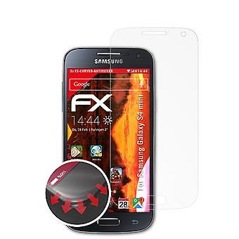 atFoliX Glass Protector compatible with Samsung Galaxy S4 mini Glass Protective Film 9H Hybrid-Glass