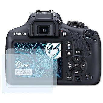 Bruni 2x Screen Protector compatibel met Canon EOS 1300D beschermende film