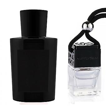AQUA DI PARMA COLONIA OUD Inspired Fragrance 8ml Black Lid Bottle Hanging Car Vehicle Auto Air Freshener
