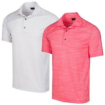 Greg Norman Mens Ashfall Moisture Wicking Golf Polo Shirt