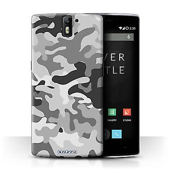 STUFF4 Case/Cover voor OnePlus One/Wit 1/Camouflage Army Navy