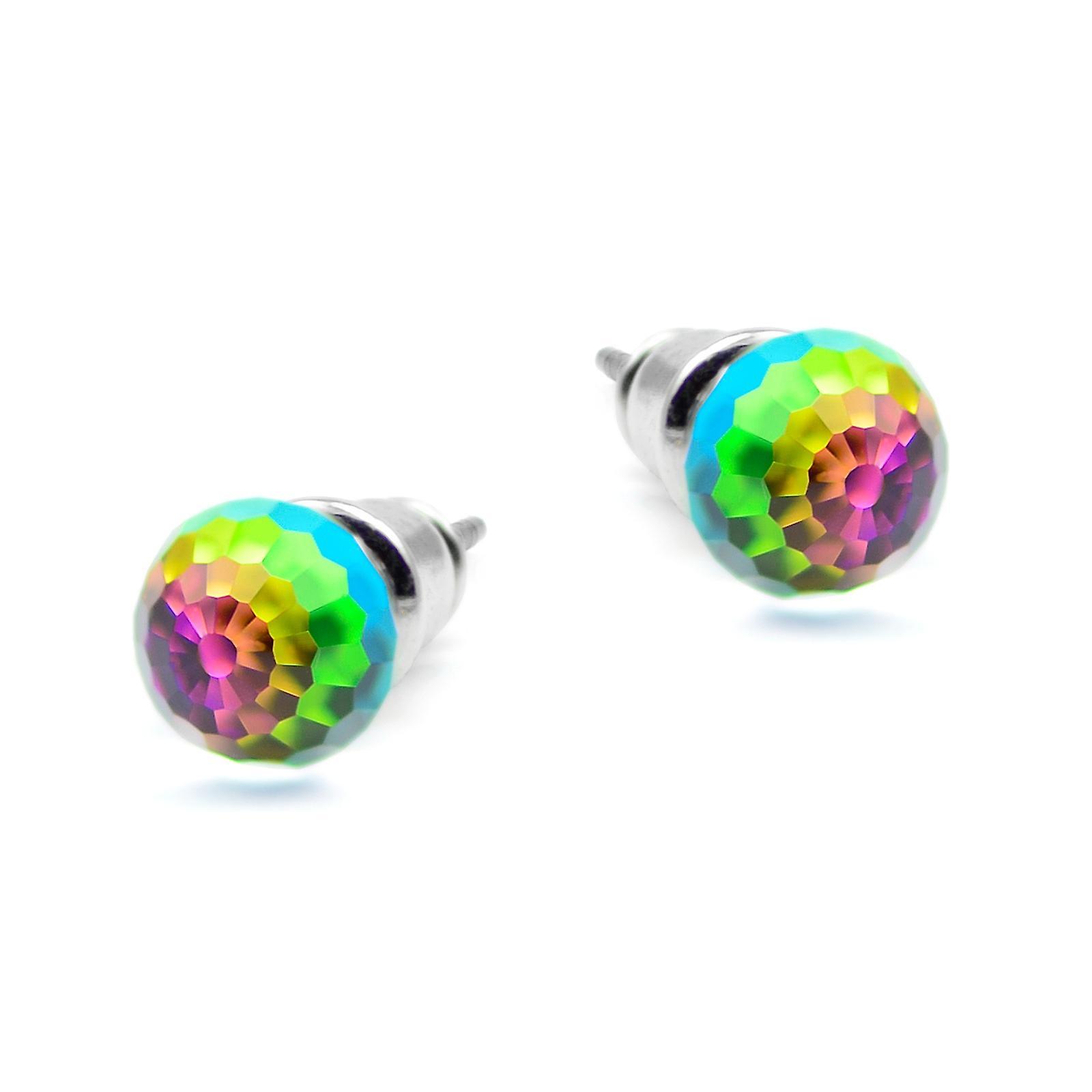 Round crystal stud earrings EMB12.8