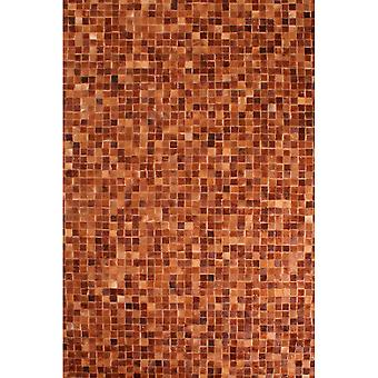Cowhide Patchwork mattor i Tan