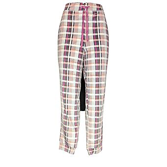 Cuddl Duds Women's Petite Pajama Pants Plush Velvet Fleece Gray A369297
