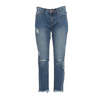 Oneteaspoon 20686blue Women's Blue Cotton Jeans