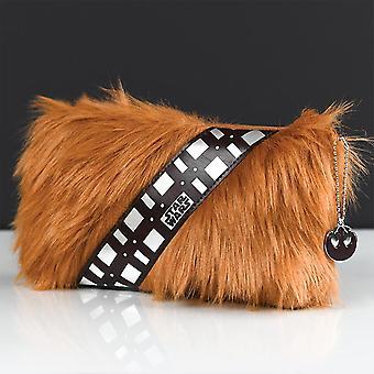 Star Wars Premium blyant sag Chewbacca brun, med lynlås, i en zottelfur look.
